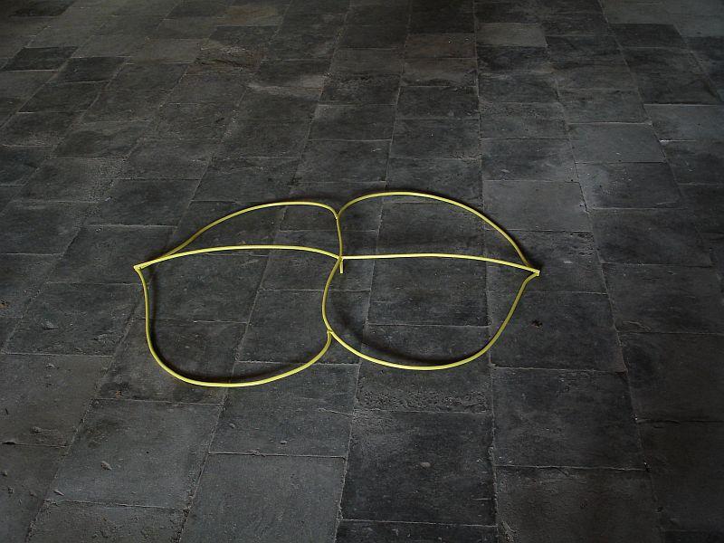 Kamperfoelie 2010 metaal verf 80 x 60 x 10 cm