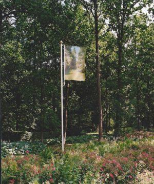 z.t. 2003 c.p. op polyesterdoek aluminium koper 600 x 100 x 150 cm Kasteelmuseum Sypensteyn, Loosdrecht