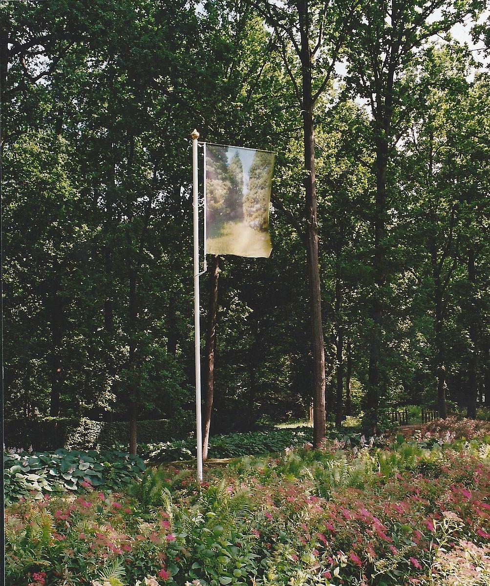 z.t. 2003 color print op polyesterdoek aluminium koper 600 x 100 x 150 cm