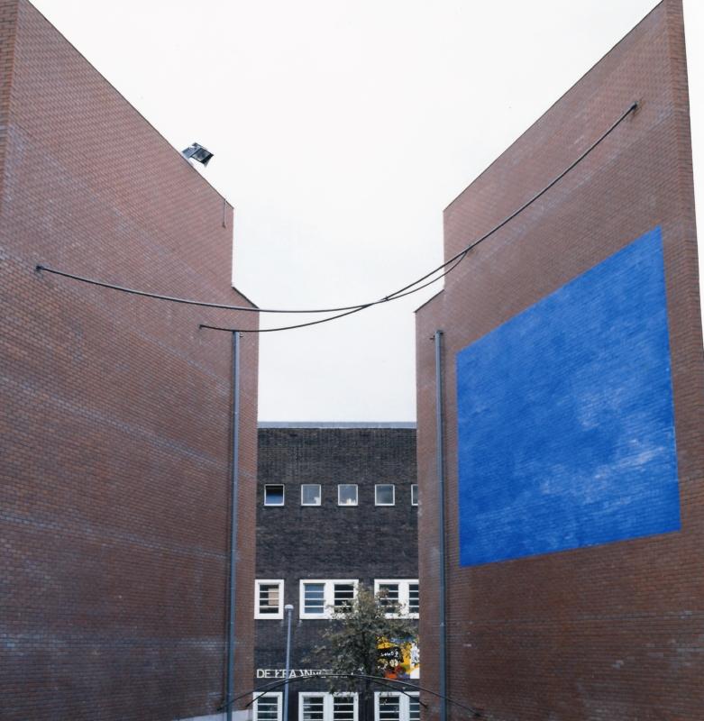 President Brandtstraat Amsterdam tekening in de ruimte opdracht Kunst Oude Stad metaal pigment