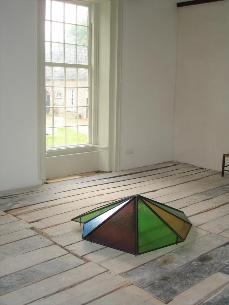 Huis Wegdam, Diepenheim - artist in residence - 2011 Children on a court 2004 glas metaal 135 x 150 x 40 cm